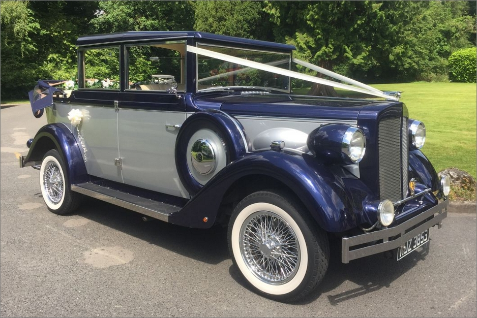 Navy Regent Landaulette Wedding Car