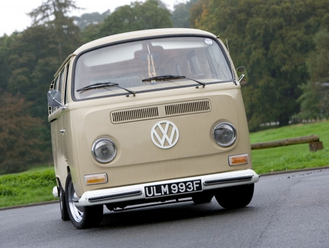 VW Camper Van Wedding Car Front View